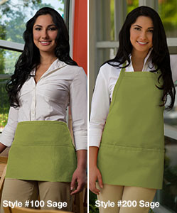 Introducing our new sage aprons!