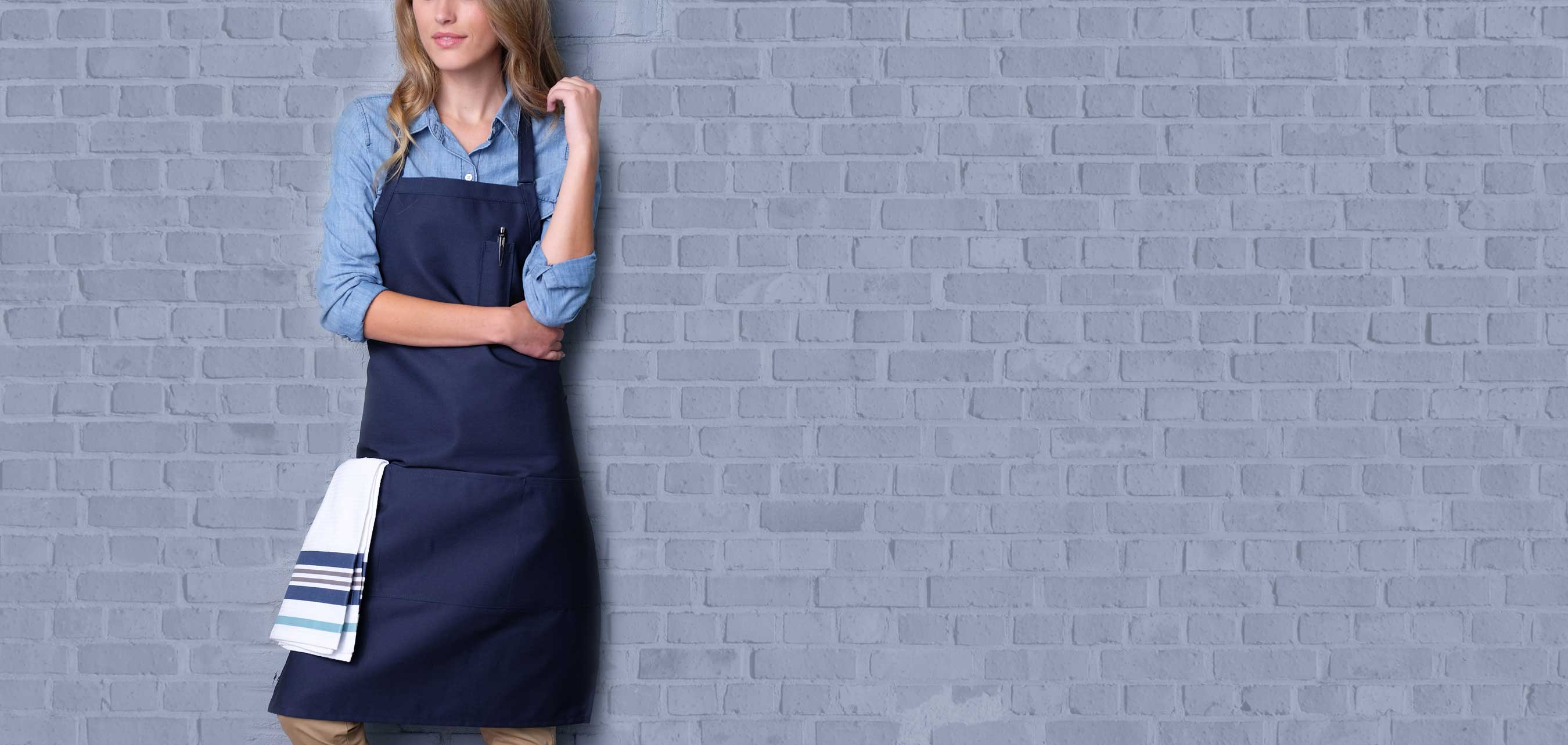 Top quality aprons for top quality service.