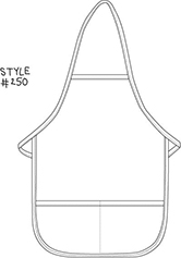 Break-Away Neck Two Pocket Child Bib Apron